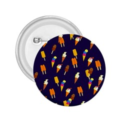 Seamless Cartoon Ice Cream And Lolly Pop Tilable Design 2.25  Buttons