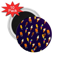 Seamless Cartoon Ice Cream And Lolly Pop Tilable Design 2.25  Magnets (10 pack)