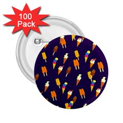 Seamless Cartoon Ice Cream And Lolly Pop Tilable Design 2.25  Buttons (100 pack)