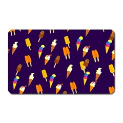 Seamless Cartoon Ice Cream And Lolly Pop Tilable Design Magnet (rectangular)