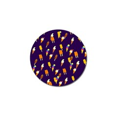 Seamless Cartoon Ice Cream And Lolly Pop Tilable Design Golf Ball Marker (10 pack)