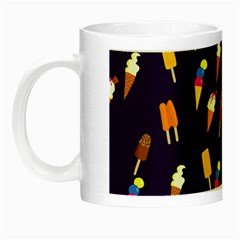 Seamless Cartoon Ice Cream And Lolly Pop Tilable Design Night Luminous Mugs