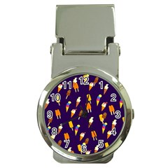 Seamless Cartoon Ice Cream And Lolly Pop Tilable Design Money Clip Watches