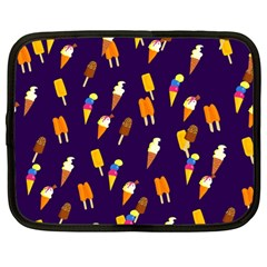 Seamless Cartoon Ice Cream And Lolly Pop Tilable Design Netbook Case (Large)