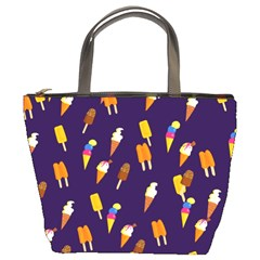 Seamless Cartoon Ice Cream And Lolly Pop Tilable Design Bucket Bags
