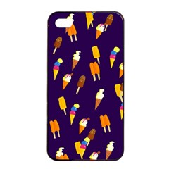 Seamless Cartoon Ice Cream And Lolly Pop Tilable Design Apple iPhone 4/4s Seamless Case (Black)