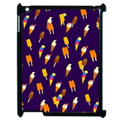 Seamless Cartoon Ice Cream And Lolly Pop Tilable Design Apple iPad 2 Case (Black)