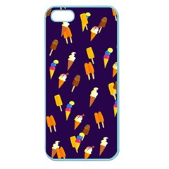 Seamless Cartoon Ice Cream And Lolly Pop Tilable Design Apple Seamless iPhone 5 Case (Color)