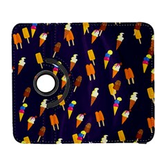 Seamless Cartoon Ice Cream And Lolly Pop Tilable Design Galaxy S3 (Flip/Folio)