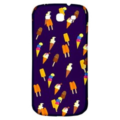 Seamless Cartoon Ice Cream And Lolly Pop Tilable Design Samsung Galaxy S3 S Iii Classic Hardshell Back Case