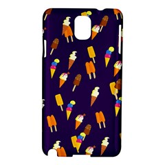 Seamless Cartoon Ice Cream And Lolly Pop Tilable Design Samsung Galaxy Note 3 N9005 Hardshell Case