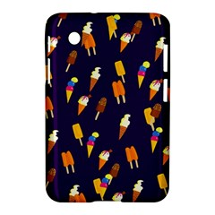 Seamless Cartoon Ice Cream And Lolly Pop Tilable Design Samsung Galaxy Tab 2 (7 ) P3100 Hardshell Case