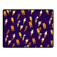 Seamless Cartoon Ice Cream And Lolly Pop Tilable Design Double Sided Fleece Blanket (small)