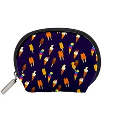 Seamless Cartoon Ice Cream And Lolly Pop Tilable Design Accessory Pouches (small)