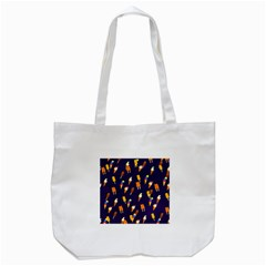 Seamless Cartoon Ice Cream And Lolly Pop Tilable Design Tote Bag (white)