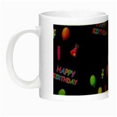 Cartoon Birthday Tilable Design Night Luminous Mugs