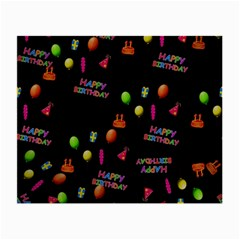 Cartoon Birthday Tilable Design Small Glasses Cloth