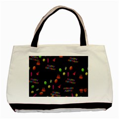 Cartoon Birthday Tilable Design Basic Tote Bag