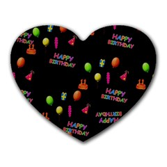 Cartoon Birthday Tilable Design Heart Mousepads