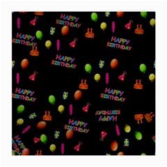 Cartoon Birthday Tilable Design Medium Glasses Cloth