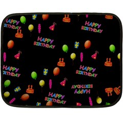 Cartoon Birthday Tilable Design Double Sided Fleece Blanket (Mini)