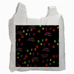 Cartoon Birthday Tilable Design Recycle Bag (two Side)