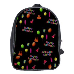 Cartoon Birthday Tilable Design School Bags(Large)