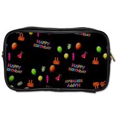 Cartoon Birthday Tilable Design Toiletries Bags