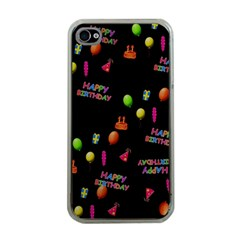 Cartoon Birthday Tilable Design Apple Iphone 4 Case (clear)
