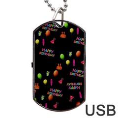 Cartoon Birthday Tilable Design Dog Tag USB Flash (One Side)