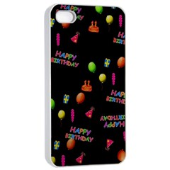 Cartoon Birthday Tilable Design Apple Iphone 4/4s Seamless Case (white)