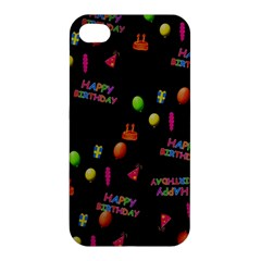 Cartoon Birthday Tilable Design Apple iPhone 4/4S Premium Hardshell Case