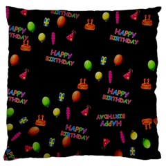 Cartoon Birthday Tilable Design Large Cushion Case (One Side)