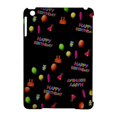 Cartoon Birthday Tilable Design Apple iPad Mini Hardshell Case (Compatible with Smart Cover)
