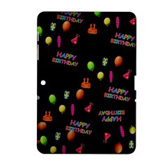 Cartoon Birthday Tilable Design Samsung Galaxy Tab 2 (10 1 ) P5100 Hardshell Case