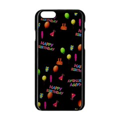 Cartoon Birthday Tilable Design Apple Iphone 6/6s Black Enamel Case