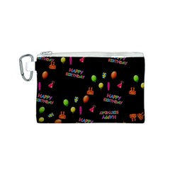 Cartoon Birthday Tilable Design Canvas Cosmetic Bag (s)