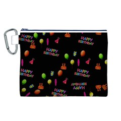 Cartoon Birthday Tilable Design Canvas Cosmetic Bag (L)