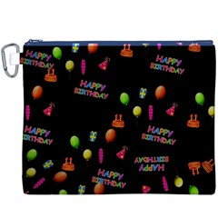 Cartoon Birthday Tilable Design Canvas Cosmetic Bag (xxxl)