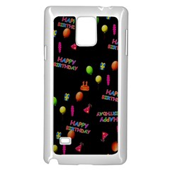 Cartoon Birthday Tilable Design Samsung Galaxy Note 4 Case (White)