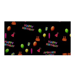 Cartoon Birthday Tilable Design Satin Wrap