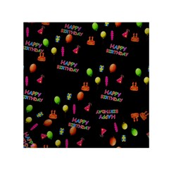 Cartoon Birthday Tilable Design Small Satin Scarf (Square)