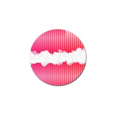 Digitally Designed Pink Stripe Background With Flowers And White Copyspace Golf Ball Marker