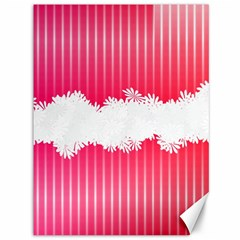 Digitally Designed Pink Stripe Background With Flowers And White Copyspace Canvas 36  X 48