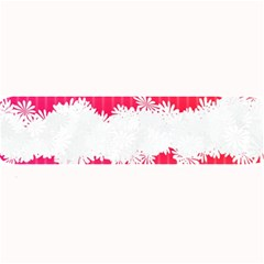 Digitally Designed Pink Stripe Background With Flowers And White Copyspace Large Bar Mats