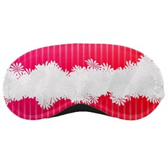Digitally Designed Pink Stripe Background With Flowers And White Copyspace Sleeping Masks