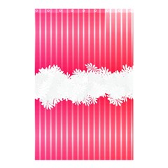 Digitally Designed Pink Stripe Background With Flowers And White Copyspace Shower Curtain 48  X 72  (small)