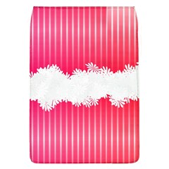 Digitally Designed Pink Stripe Background With Flowers And White Copyspace Flap Covers (l)
