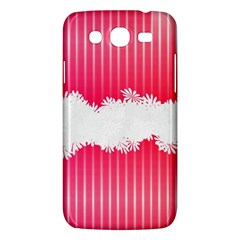 Digitally Designed Pink Stripe Background With Flowers And White Copyspace Samsung Galaxy Mega 5 8 I9152 Hardshell Case