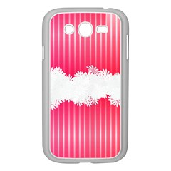 Digitally Designed Pink Stripe Background With Flowers And White Copyspace Samsung Galaxy Grand DUOS I9082 Case (White)